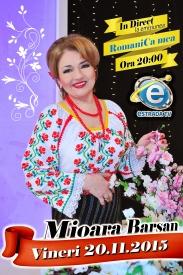 Mioara Barsan afis emisiune Estrada TV 2015