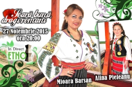 Mioara Barsan - afis emisiune ETNO TV 2015