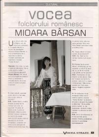 Mioara Barsan - ARTICOL Presa Revista Vocea strazii - 1997