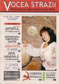 Mioara Barsan - COPERTA Presa Revista Vocea strazii - 1997