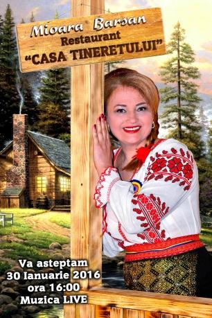 Mioara Barsan LIVE la Restaurantul Tineretului - Bucuresti - afis - Geofotovideo
