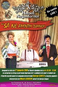 Mioara Barsan si George Cantea - Afis Restaurant - LIVE - Hanul Negustorilor 16 ianuarie 2016