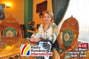 Mioara Barsan RadioRomania International ON AIR 2016