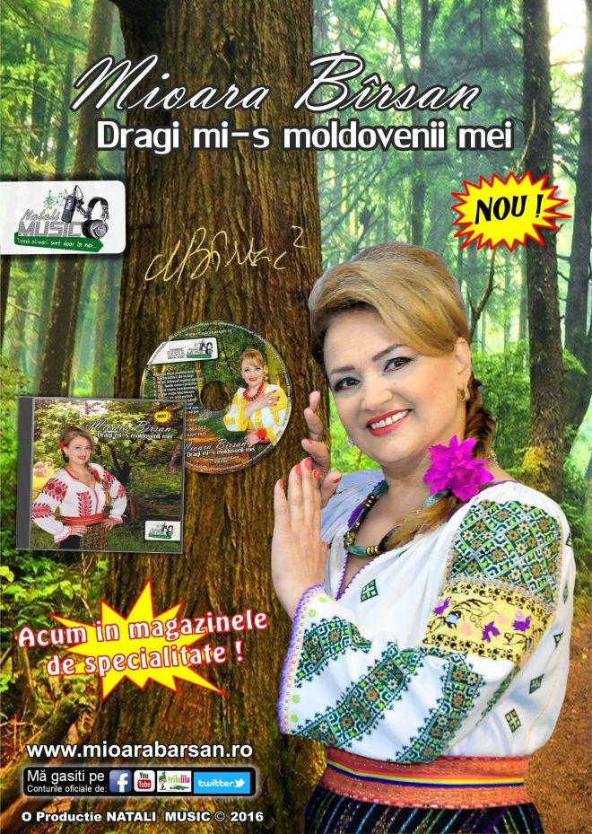 Mioara Barsan - Dragi mi-s moldovenii mei - Afis ALBUM 2016 - Pe un picior de plai - Diaspora