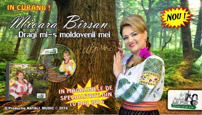 Mioara Barsan - Dragi mi-s moldovenii mei - Flyer ALBUM 2016 - Pe un picior de plai - Diaspora
