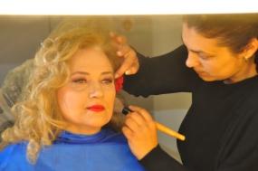 Mioara Barsan pregatire pentru emisiune TVH